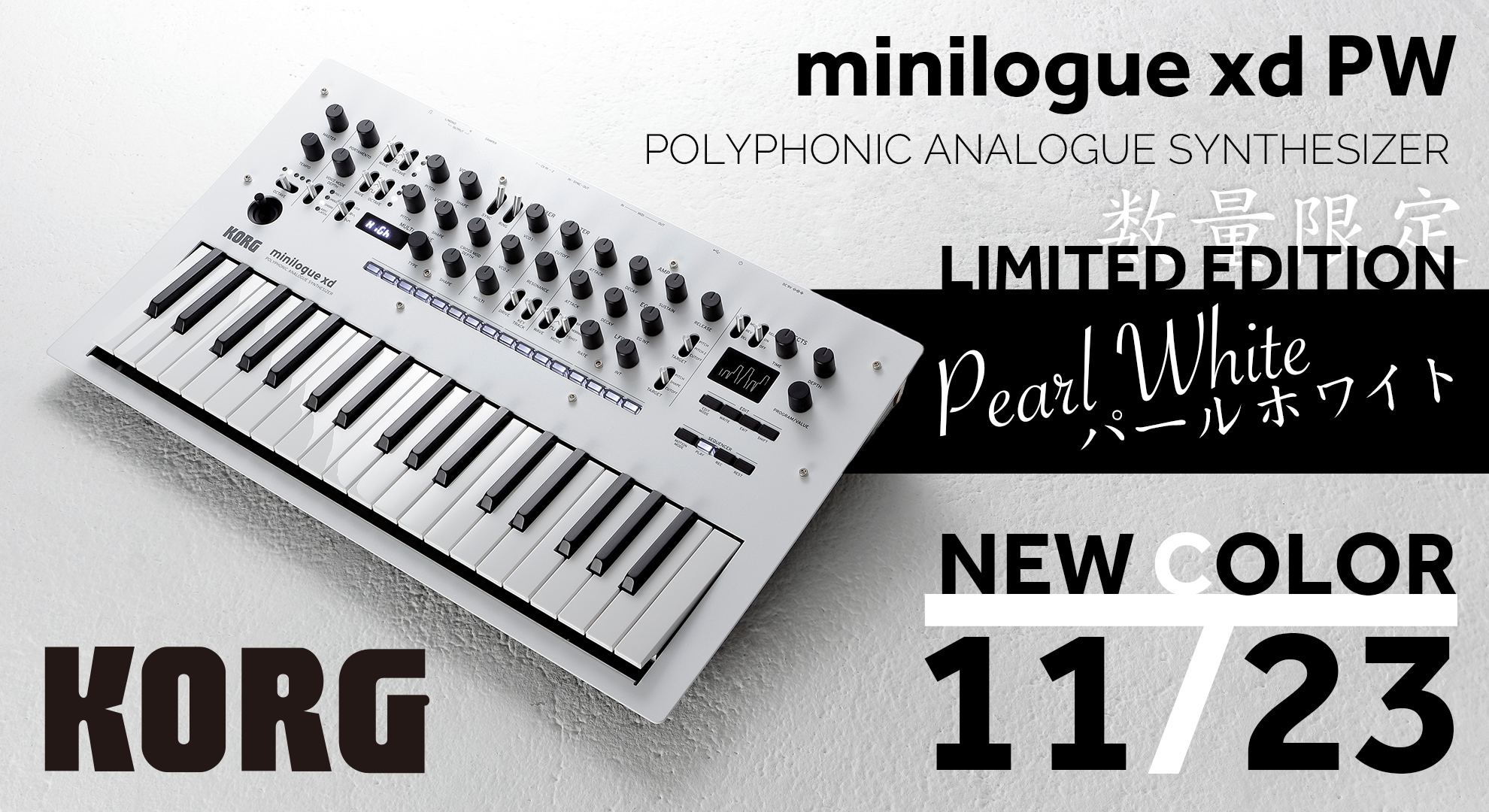 KORG minilogue xd Pearl White New Color